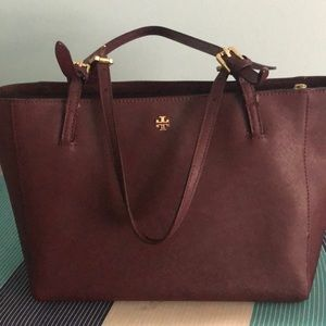 Tory Burch small tote / burgandy